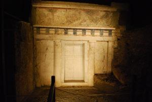 Facciata della tomba di Filippo II