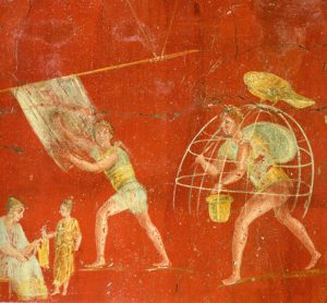 Dipinto murale di una folleria dal Museo Archeologico Nazionale di Napoli.1