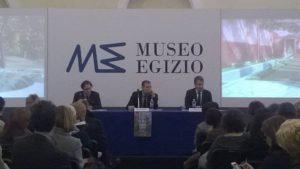 Paolo Giulierini, Massimo Osanna e Christian Greco. ph/Museo Egizio