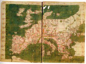 Carta Europa Tolomeo II sec. d.C.