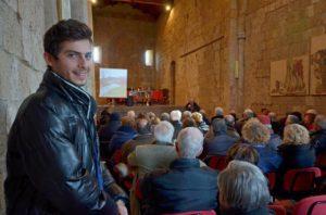Dentro la ex Chiesa S.Croce a Tuscania (ph Felice Fiorentini)