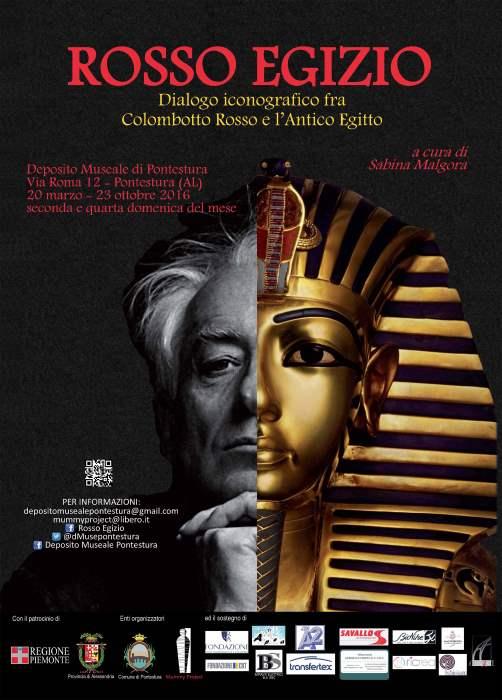 Locandina della mostra Rosso Egizio