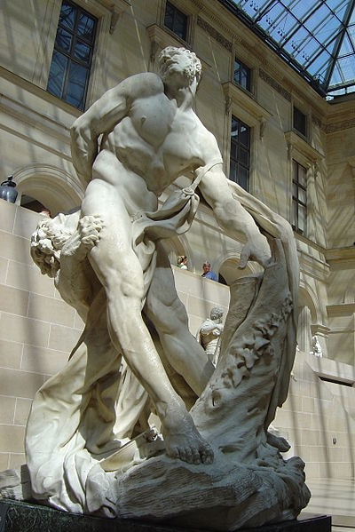 Milone da Crotone, statua al Louvre