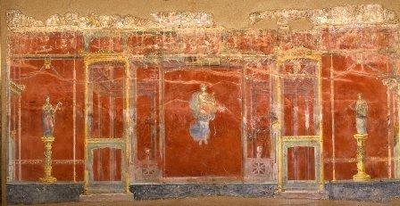 Triclinio A, parete NORD