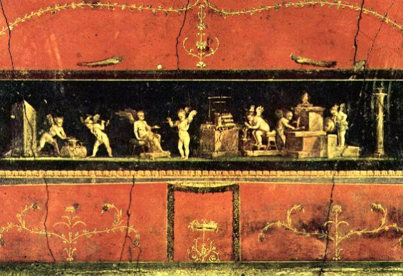 Dalla casa dei Vettii/Amorini profumieri wikimedia commons