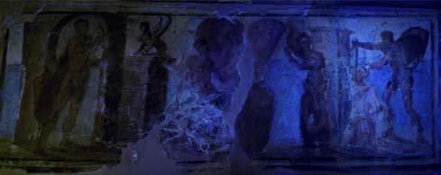 Le immagini ad ultravioletti permettono l'osservazione della variazione e il degrado dei pigmenti