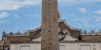 Dettaglio dell'obelisco flaminio con parte della titolatura di Ramesse II
