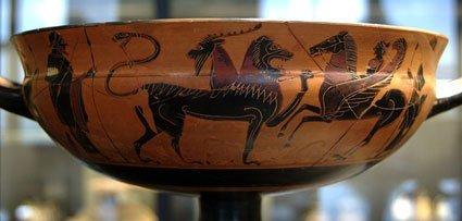Coppa attica a figure nere 575 a.C.